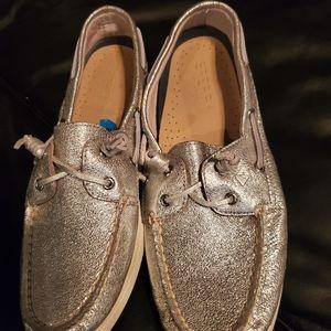 Sperry's Metallic Shimmer Gold